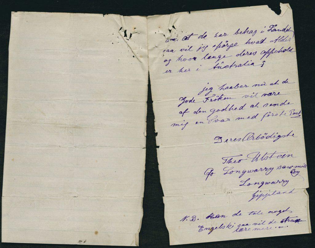 Ulstein Letter Norwegian