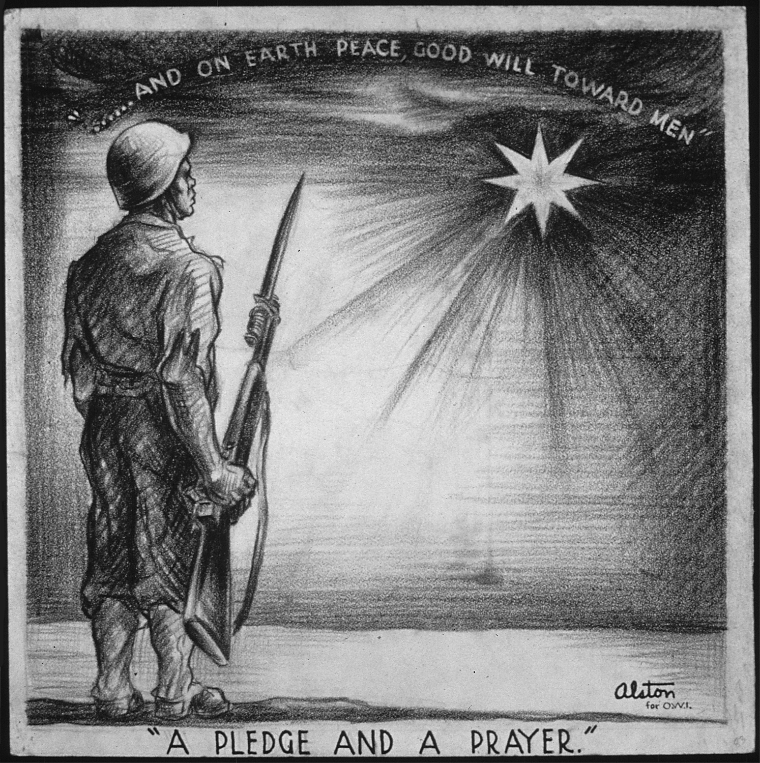 Peace on earth good will to people\