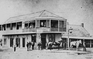 Criterion Hotel, Rockhampton, c. 1873. Image via John Oxley Library, State Library of Queensland