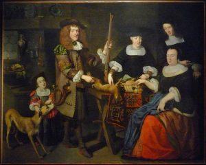 Barthélémi Hopfer, Portrait d'une famille strasbourgeoise (c. 1660-1670). Image via Wikimedia Commons.
