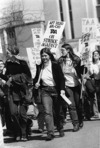 Teaching Assistants' Association strike, 1970. Image via University of Wisconsin Archives.