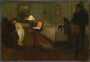 "Edgar Degas, ""Interior (The Rape)"" (1868-69). Image via Wikimedia Commons."