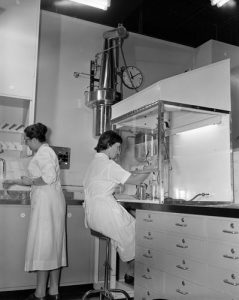 Australian Red Cross Society, Blood Bank Laboratory, Victoria, 1959. Image Via Museums Victoria.