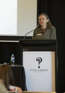 Rachel Franks, Coordinator for Education and Scholarship, State Library of New South Wales. Image via State Library of NSW.