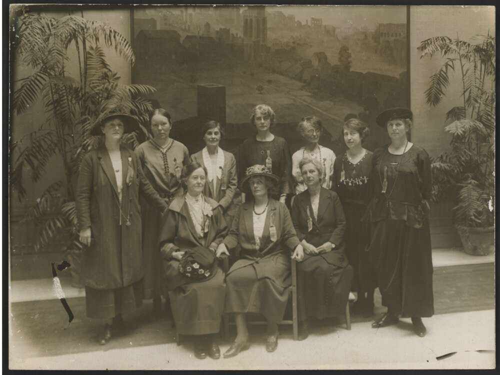 Australian delegation to the International Woman Suffrage Alliance Congress in Rome, 1923. Image via the National Library of Australia.