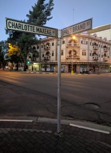 Bloemfontein, Free State, South Africa. Since 1994, streets of the same name have appeared in Pretoria and Durban, while the Charlotte Maxeke Johannesburg Academic Hospital is in the Gauteng Province. Photograph by Ana Stevenson.