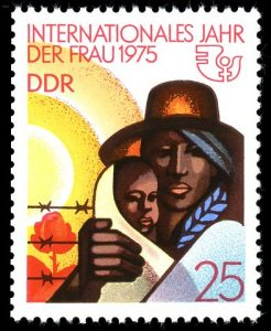 Internationales Jahr der Frau, Germany 1975. Image via Wikimedia Commons.