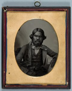 Aboriginal man of Poonindie. Ambrotype. By permission University of Bristol Library, Special Collections, Papers of Mathew Blagden Hale. DM130/239.
