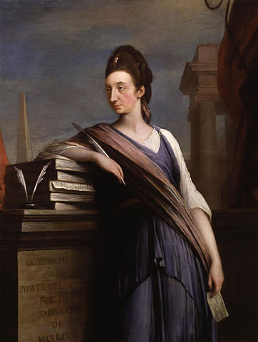 Portrait of Catharine Macaulay (c. 1775), by Robert Edge Pine. Image via National Portrait Gallery.