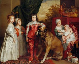 Five Eldest Children of Charles I (1637), by Anthony van Dyck. Image via the Royal Collection.