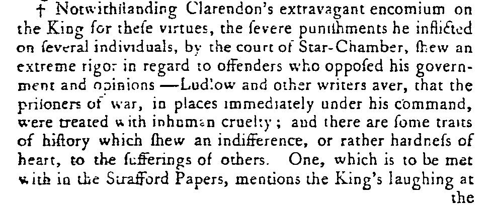"Macaulay writes on the king's ""hardness of heart."" Macaulay, History of England from the Accession of James the First, to that of the Brunswick Line, 8 vols. (London: 1763-1783), 4.394."