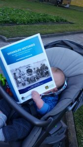 The youngest member of the Australian Historical Association. Photograph via author.