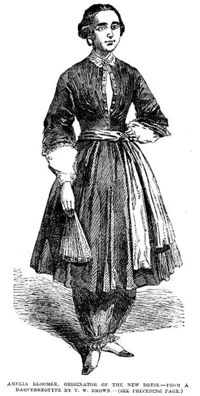 1a0563aa211e Originator of the New Dress,' Illustrated London News, September 27, 1851.  Image via Victorian Web.